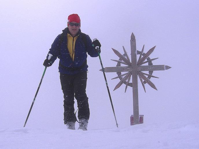 Foto: Andreas Koller / Ski Tour / Genusstour aufs Hochhorn (2623m) / Der Golfen wird überschritten / 23.02.2009 00:26:12