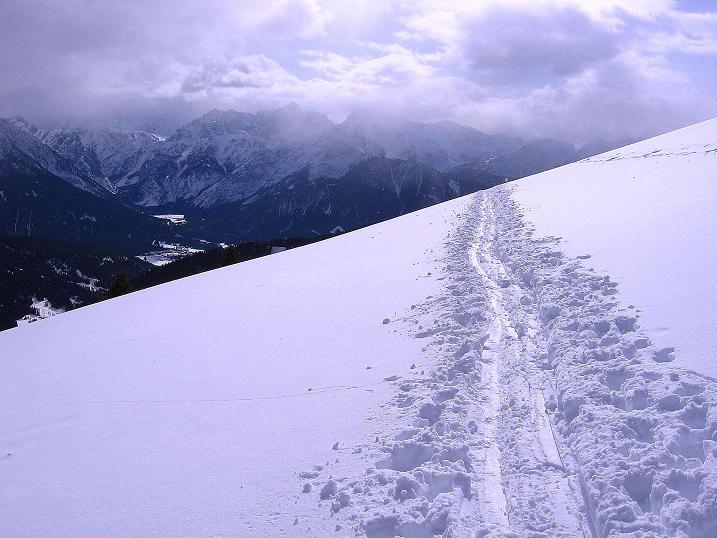 Foto: Andreas Koller / Ski Tour / Genusstour aufs Hochhorn (2623m) / Toller Blick auf die Sextener Dolomiten / 23.02.2009 00:21:14