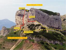 Foto: Kurt Schall / Klettersteig Tour / Via ferrata Giulio Segata / 26.02.2009 08:47:30