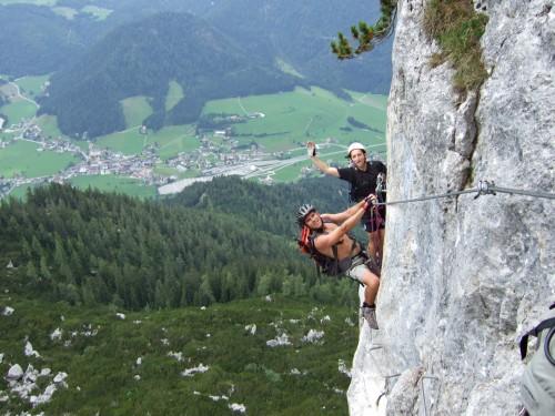 """Foto: hofchri / Klettersteig Tour / Steinplatte (1869m) über """"s´Schuasta Gangl-Klettersteig"""" / sehr toll - bischen Reibungskletterei ist auch dabei / 25.02.2009 12:14:46"""