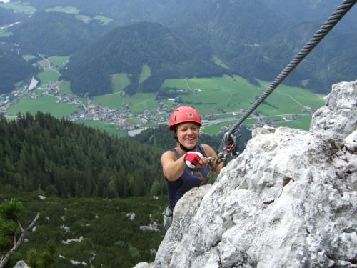 """Foto: hofchri / Klettersteig Tour / Steinplatte (1869m) über """"s´Schuasta Gangl-Klettersteig"""" / letzter Aufschwung aus der Gipfelwand (C) / 25.02.2009 12:15:36"""
