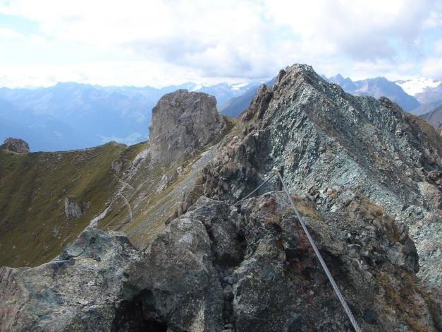 Foto: Manfred Karl / Klettersteigtour / Über den Westgrat Klettersteig auf die Blauspitze / Weißer und Blauer Knopf / 26.02.2009 21:17:49