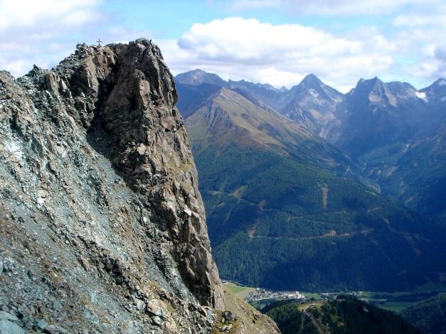 Foto: Manfred Karl / Klettersteigtour / Über den Westgrat Klettersteig auf die Blauspitze / Blauspitze mit dem Westgrat Klettersteig / 26.02.2009 21:16:18