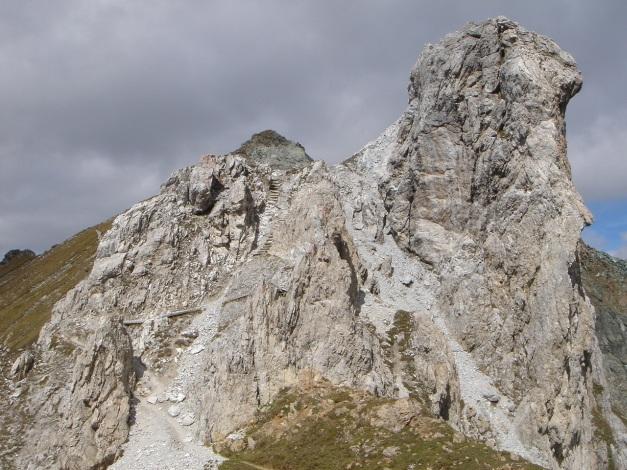Foto: Manfred Karl / Klettersteigtour / Über den Westgrat Klettersteig auf die Blauspitze / Weißer Knopf / 26.02.2009 21:13:49