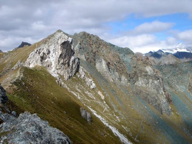 Foto: Manfred Karl / Klettersteigtour / Über den Westgrat Klettersteig auf die Blauspitze / Die Knöpfe: Weiß und Blau / 26.02.2009 21:12:50