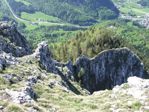 Foto: hofchri / Wander Tour / Thalgauer Schober (1328 m) und Frauenkopf (1287 m) von Wartenfels / Abstieg vom Frauenkopf (Schober Südgrat) / 27.02.2009 18:07:10