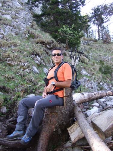 Foto: hofchri / Wander Tour / Thalgauer Schober (1328 m) und Frauenkopf (1287 m) von Wartenfels / Rast im Baumsessel / 27.02.2009 18:04:14