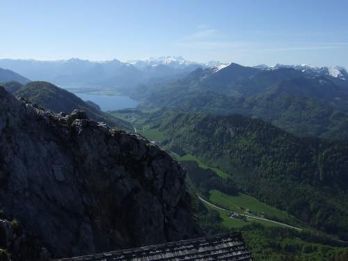 Foto: hofchri / Wander Tour / Thalgauer Schober (1328 m) und Frauenkopf (1287 m) von Wartenfels / Panorama zum Dachstein und Wolgangsee / 27.02.2009 18:05:20