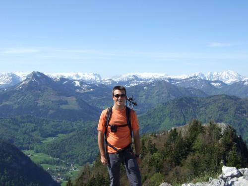 Foto: hofchri / Wander Tour / Thalgauer Schober (1328 m) und Frauenkopf (1287 m) von Wartenfels / Tennengebirge im Hintergrund / 27.02.2009 18:06:07