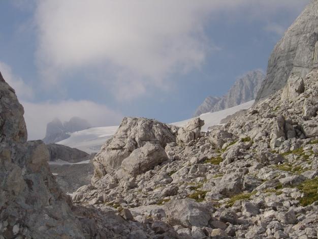 Foto: Manfred Karl / Klettersteig Tour / Wildkar Klettersteig / Blick zum Hallstätter Gletscher / 28.02.2009 09:59:47