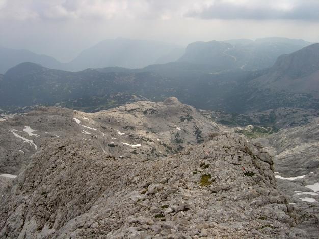 Foto: Manfred Karl / Klettersteig Tour / Wildkar Klettersteig / Gipfelgrat mit Blick zum Krippenstein / 28.02.2009 09:55:57