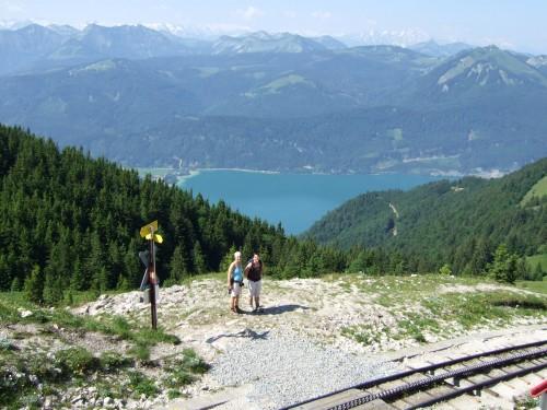 Foto: hofchri / Wander Tour / Schafberg (1782 m) von Winkl / kurz nach der Schafbergalm, der Bahnübergang / 28.02.2009 19:22:14