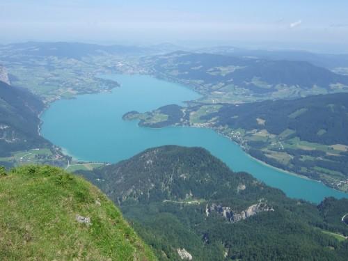 Foto: hofchri / Wander Tour / Schafberg (1782 m) von Winkl / Blick auf den Mondsee / 28.02.2009 19:25:44