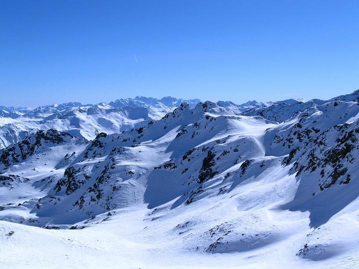 Foto: Andreas Koller / Ski Tour / Flimspitze (3113m) - Skidreitausender par excellence / Blick in die Brenta / 02.03.2009 19:32:32