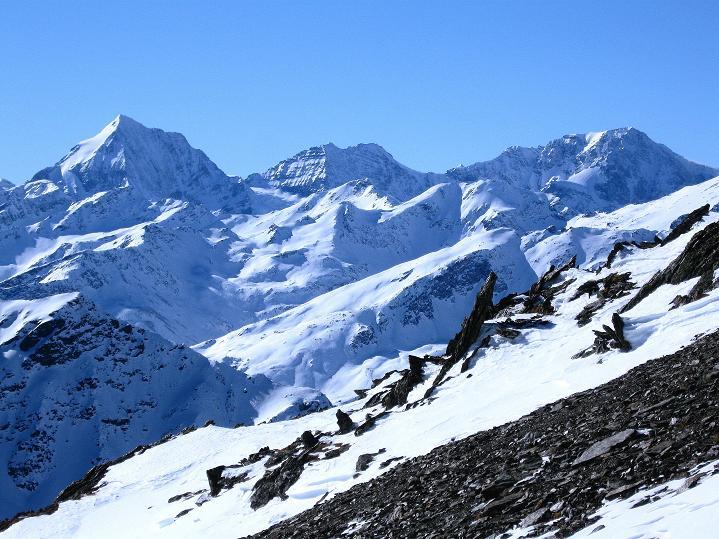 Foto: Andreas Koller / Ski Tour / Flimspitze (3113m) - Skidreitausender par excellence / Königspitze (3859 m) - Zebru (3739 m) - Ortler (3905 m) / 02.03.2009 19:31:10
