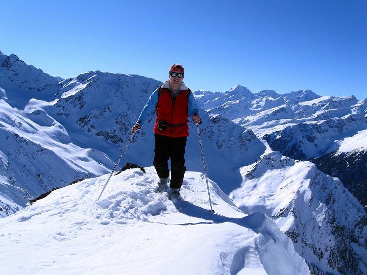 Foto: Andreas Koller / Ski Tour / Flimspitze (3113m) - Skidreitausender par excellence / Am Sw-Grat, nur teilweise ausgesetzt / 02.03.2009 19:29:47