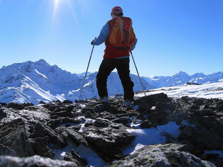 Foto: Andreas Koller / Ski Tour / Flimspitze (3113m) - Skidreitausender par excellence / 02.03.2009 19:26:08