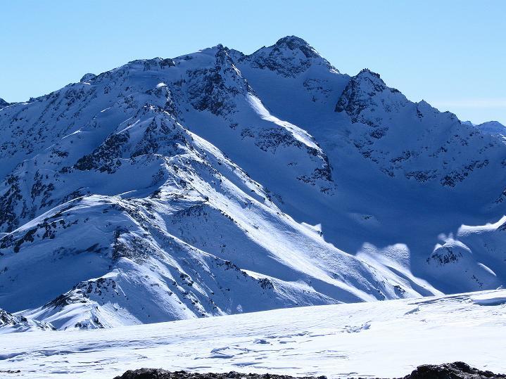 Foto: Andreas Koller / Ski Tour / Flimspitze (3113m) - Skidreitausender par excellence / Zufrittspitze im S (3439 m) / 02.03.2009 19:25:16