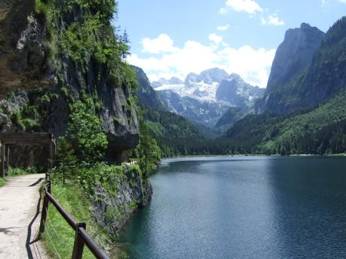 Foto: hofchri / Wander Tour / Vorderer und Hinterer Gosausee (1154 m) / Vorderer Gosausee / 07.03.2009 11:29:19