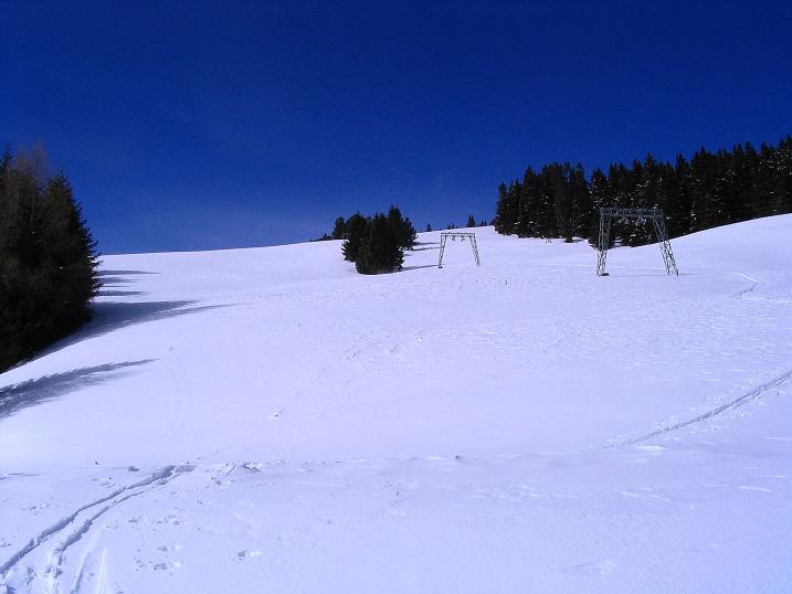 Foto: Andreas Koller / Skitour / Über den Geiger auf den Kilnprein (2408m) / Die freien Hänge der Rosatinalpe / 11.03.2009 21:10:27