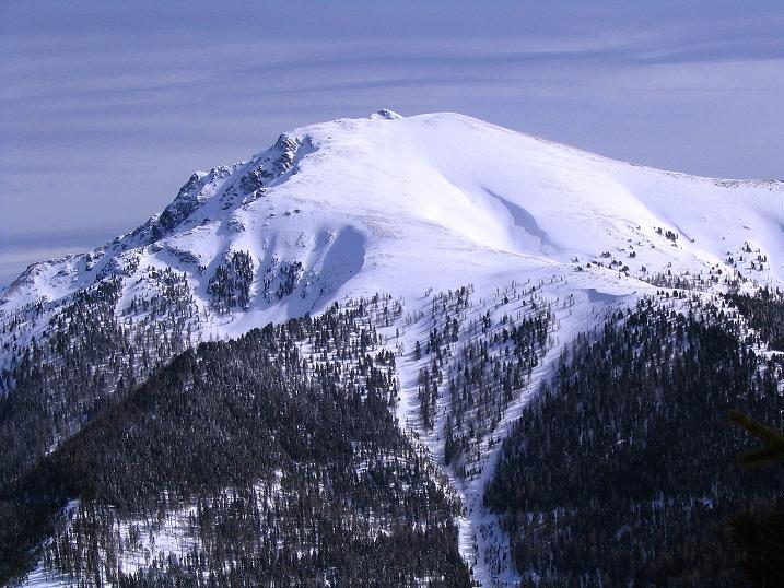 Foto: Andreas Koller / Skitour / Über den Geiger auf den Kilnprein (2408m) / Höchster Gipfel in den Nockbergen: der Eisenhut (2441 m) / 11.03.2009 21:09:22