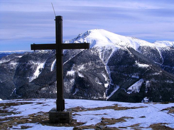 Foto: Andreas Koller / Skitour / Über den Geiger auf den Kilnprein (2408m) / Blick vom Geiger zum Eisenhut (2441 m) / 11.03.2009 21:07:42