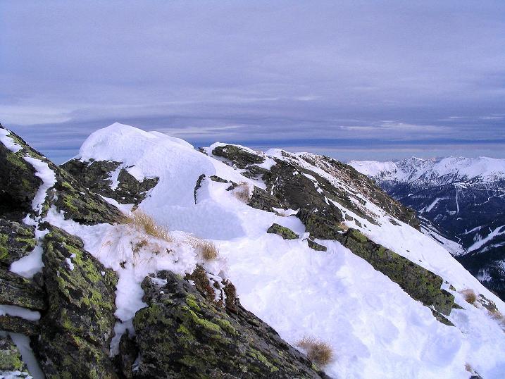 Foto: Andreas Koller / Skitour / Über den Geiger auf den Kilnprein (2408m) / Der SO-Grat / 11.03.2009 21:02:46