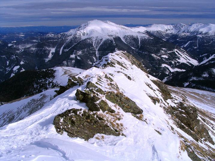Foto: Andreas Koller / Skitour / Über den Geiger auf den Kilnprein (2408m) / Der SO-Grat gegen Eisenhut (2441 m) / 11.03.2009 21:02:13