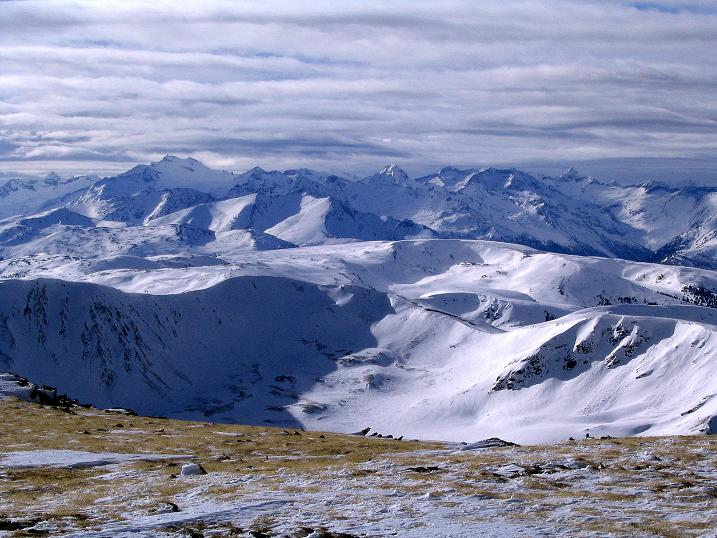 Foto: Andreas Koller / Skitour / Über den Geiger auf den Kilnprein (2408m) / Blick in die Hohen Tauern / 11.03.2009 20:56:39