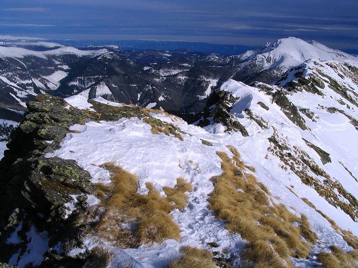 Foto: Andreas Koller / Skitour / Über den Geiger auf den Kilnprein (2408m) / Der Grat gegen Eisenhut (2441 m) / 11.03.2009 20:55:24