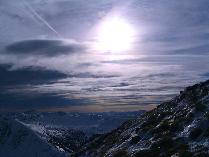 Foto: Andreas Koller / Skitour / Über den Geiger auf den Kilnprein (2408m) / Blick nach Süden / 11.03.2009 20:53:22