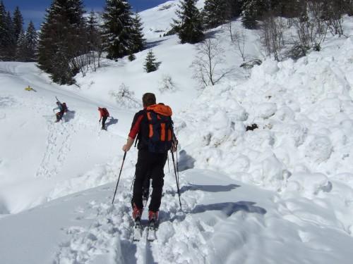 Foto: hofchri / Ski Tour / Kalkbretterkopf (2412m) von Angertal / Querung des Lawinenkegels / 09.03.2009 20:05:01