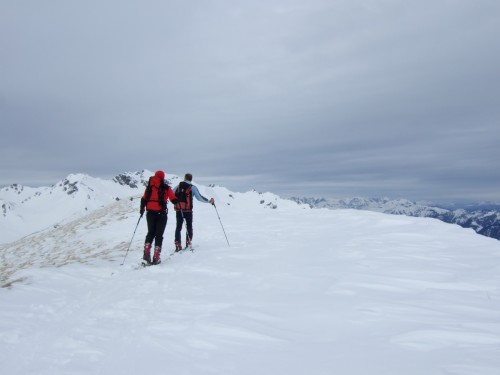 Foto: hofchri / Ski Tour / Kalkbretterkopf (2412m) von Angertal / am flachen Gipfelbereich / 09.03.2009 20:05:32