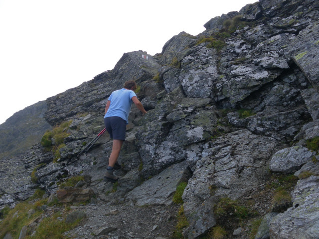 Foto: Wolfgang Lauschensky / Wander Tour / Auf das Große Gurpitscheck von Tweng aus / kurze Felsstufen / 25.08.2012 23:59:37