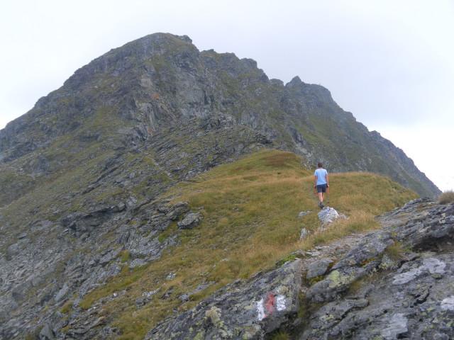 Foto: Wolfgang Lauschensky / Wander Tour / Auf das Große Gurpitscheck von Tweng aus / der Vorgipfel wird links (ostseitig) zum Gipfel ganz rechts umgangen / 25.08.2012 23:59:24