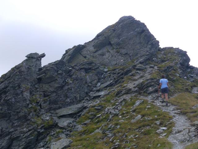 Foto: Wolfgang Lauschensky / Wander Tour / Auf das Große Gurpitscheck von Tweng aus / kurze alpine Note vor dem Gipfel / 25.08.2012 23:59:03