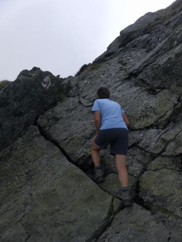 Foto: Wolfgang Lauschensky / Wander Tour / Auf das Große Gurpitscheck von Tweng aus / gesicherte 'Schlüsselstelle' / 25.08.2012 23:58:45