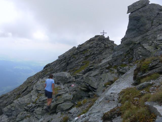 Foto: Wolfgang Lauschensky / Wander Tour / Auf das Große Gurpitscheck von Tweng aus / die letzten Gipfelschrofen / 25.08.2012 23:58:20