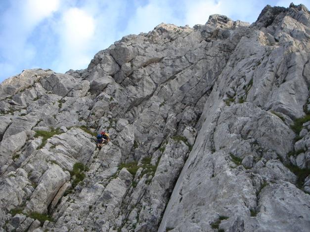 Foto: Manfred Karl / Klettersteig Tour / Cellon Via ferrata senza confine - Weg ohne Grenzen / Die ersten Meter / 12.03.2009 21:41:18