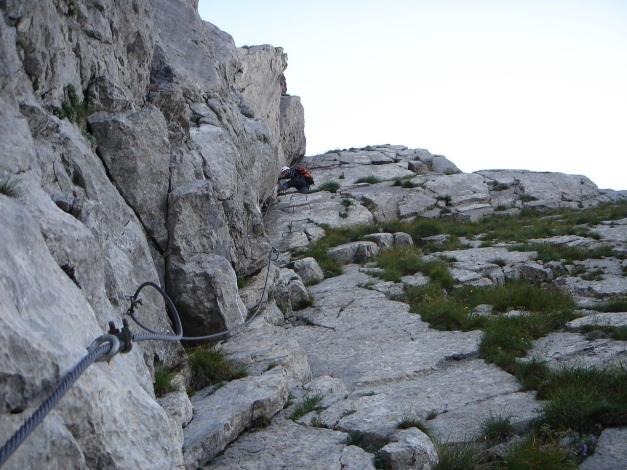 Foto: Manfred Karl / Klettersteig Tour / Cellon Via ferrata senza confine - Weg ohne Grenzen / Im oberen Teil der Verschneidung / 12.03.2009 21:40:13