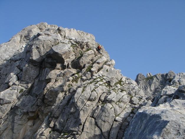 Foto: Manfred Karl / Klettersteig Tour / Cellon Via ferrata senza confine - Weg ohne Grenzen / Schöne Kletterei am Grat / 12.03.2009 21:39:31
