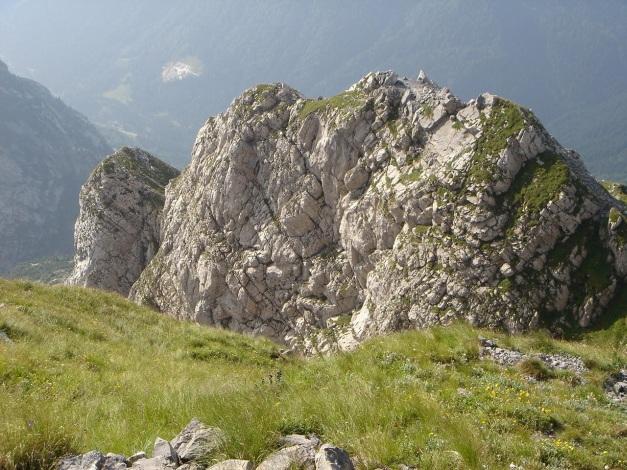 Foto: Manfred Karl / Klettersteig Tour / Cellon Via ferrata senza confine - Weg ohne Grenzen / Blick über den obersten Teil des Klettersteiges / 12.03.2009 21:35:59