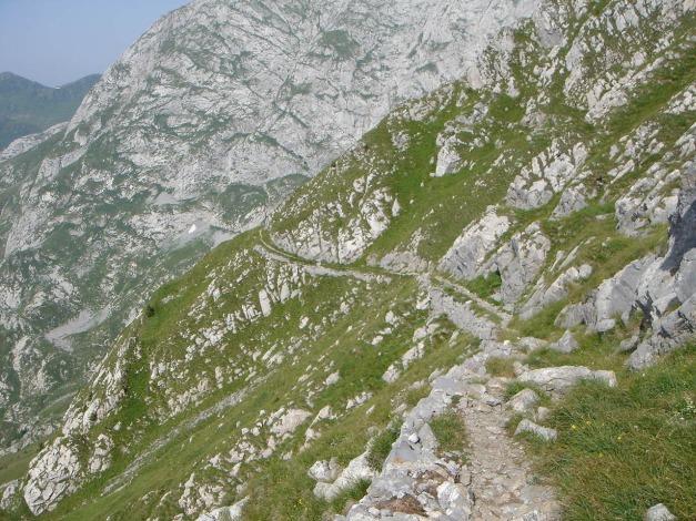 Foto: Manfred Karl / Klettersteig Tour / Cellon Via ferrata senza confine - Weg ohne Grenzen / Der gut angelegte Normalweg / 12.03.2009 21:34:02