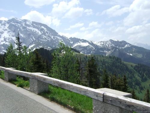 Foto: hofchri / Mountainbike Tour / Roßfeldstraße (1543 m) von Hallein / Roßfeldstraße am Kamm - Blick zum hohen Göll / 13.03.2009 19:30:34