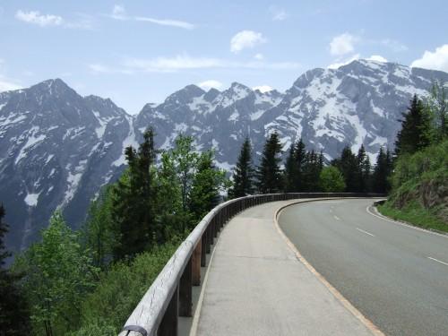 Foto: hofchri / Mountainbike Tour / Roßfeldstraße (1543 m) von Hallein / die Panoramastraße auf 1550 m Seehöhe / 13.03.2009 19:31:09