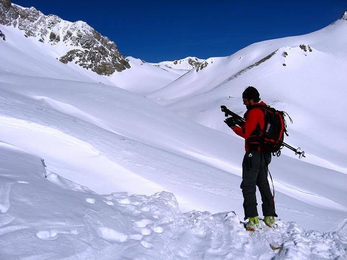 Foto: Andreas Koller / Ski Tour / Piz Tasna (3179m) und Piz Davo Lais (3027m) - Dreitausender über Scuol / Anstieg Piz Tasna / 15.03.2009 18:32:18