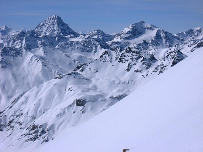 Foto: Andreas Koller / Ski Tour / Piz Tasna (3179m) und Piz Davo Lais (3027m) - Dreitausender über Scuol / Höchster Gipfel der Silvretta: Piz Linard (3411 m) / 15.03.2009 18:24:29