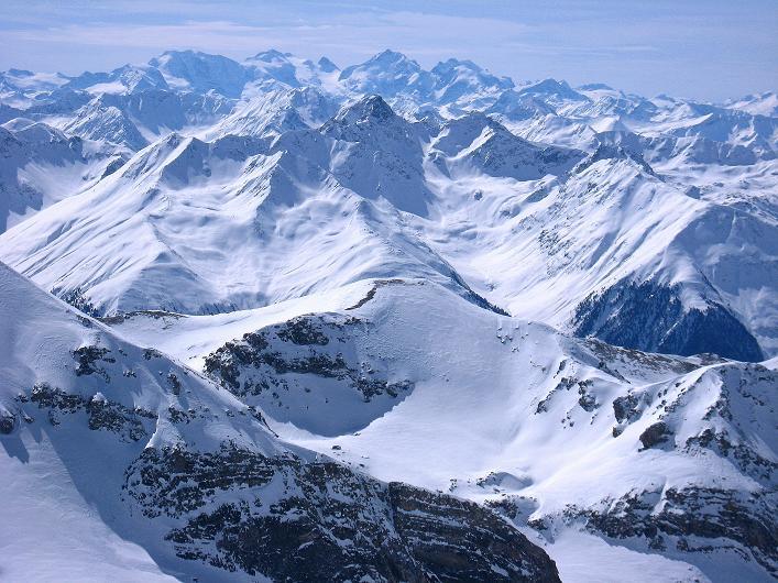 Foto: Andreas Koller / Ski Tour / Piz Tasna (3179m) und Piz Davo Lais (3027m) - Dreitausender über Scuol / Die Bernina-Gruppe / 15.03.2009 18:23:13