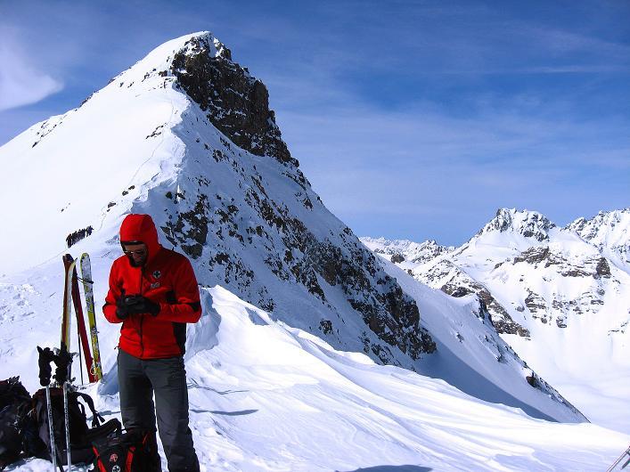 Foto: Andreas Koller / Ski Tour / Piz Tasna (3179m) und Piz Davo Lais (3027m) - Dreitausender über Scuol / Zurück auf der Schulter / 15.03.2009 18:20:01