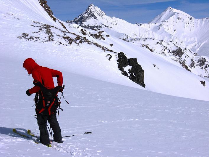 Foto: Andreas Koller / Ski Tour / Piz Tasna (3179m) und Piz Davo Lais (3027m) - Dreitausender über Scuol / Bei P.2650 - bereit zum Auftsieg auf den Piz Davo Lais / 15.03.2009 18:16:04